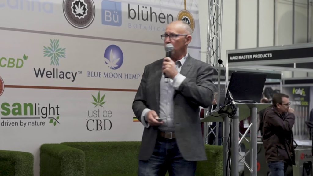 Norm Bour speaking at the Hemp & CBD Expo