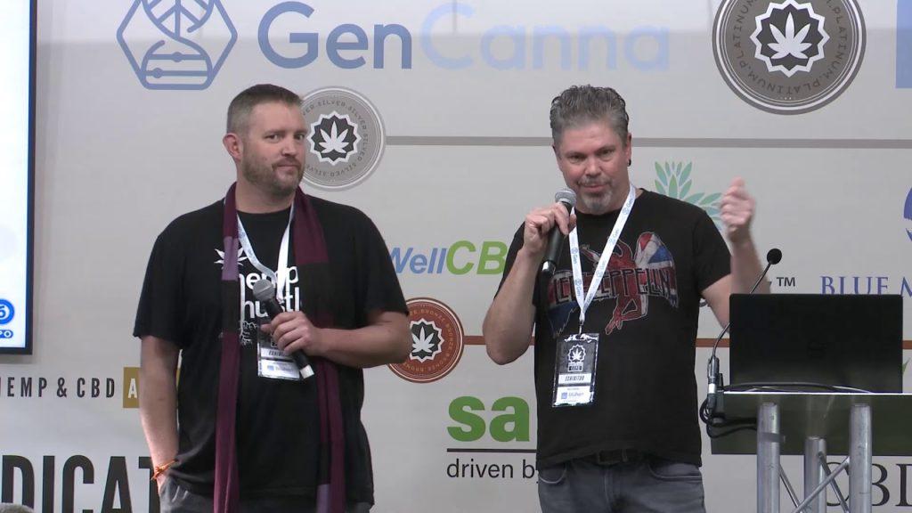 Morris Beegle and Rick Trojan speaking at the Hemp & CBD Expo