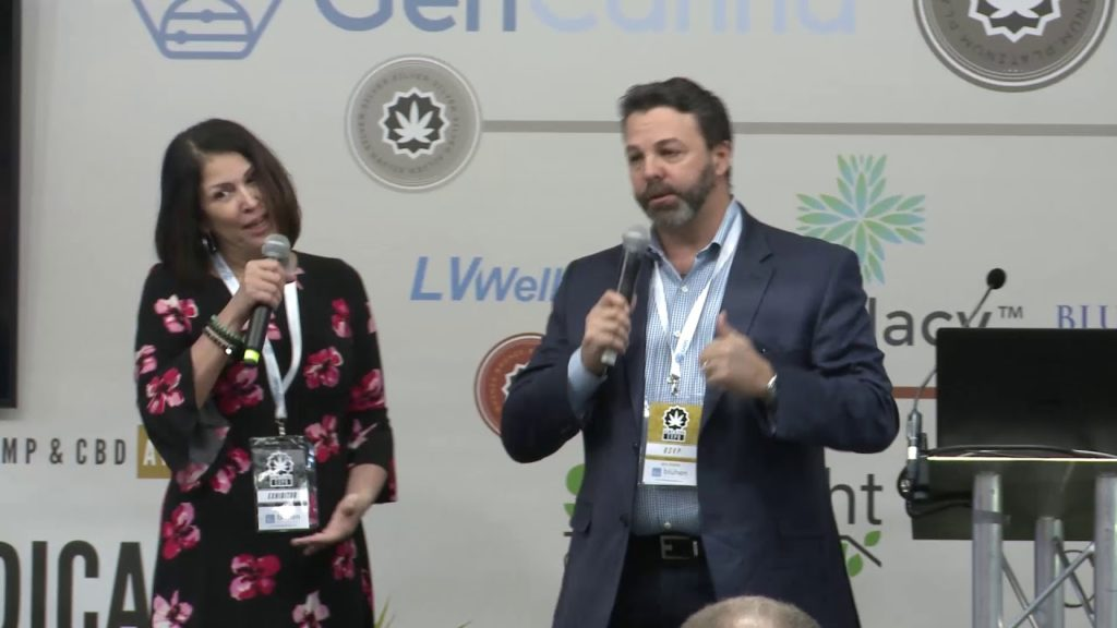 Maruchy Lachance & Robert Dimarco from BBB Labs speaking at the Hemp & CBD Expo
