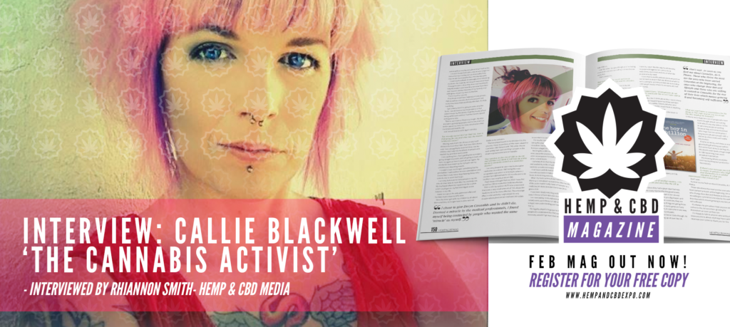interview with Callie Blackwell the cannabis activist